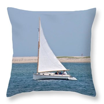 Sailing Throw Pillow by Justin Connor