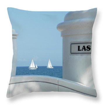 Sailing Las Olas Throw Pillow