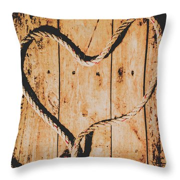 Sailing Love With No Strings Attached Throw Pillow