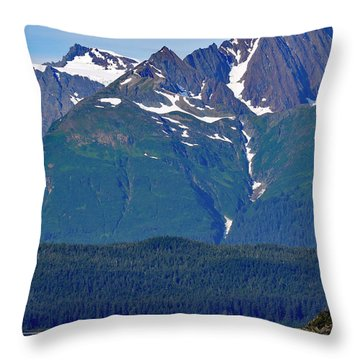 Throw Pillow featuring the photograph Sailing Lynn Canal by Cathy Mahnke