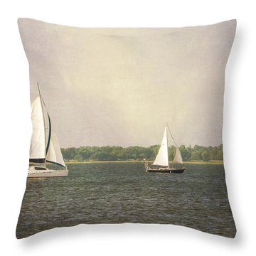 Throw Pillow featuring the photograph Sailing by Michael Colgate