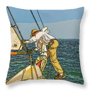 Sailing-not For Wimps-abstract Painting Throw Pillow