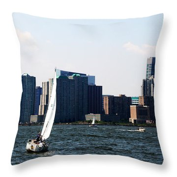 Sailing Ny Throw Pillow