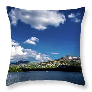 Sailing On Caples Lake Throw Pillow