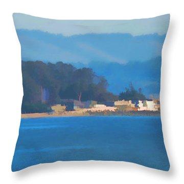 Sailing On The Monterey Bay Throw Pillow