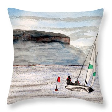 Sailing On Thunder Bay Throw Pillow by R Kyllo
