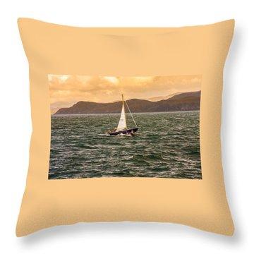 Sailing Outer Hebrides Throw Pillow