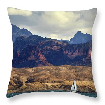 Sailing Past The Sleeping Dragon Throw Pillow