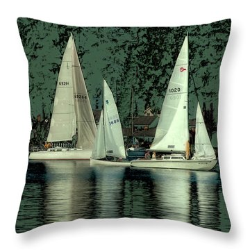 Throw Pillow featuring the photograph Sailing Reflections by David Patterson