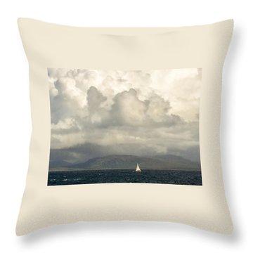Sailing Scottish Seas Throw Pillow