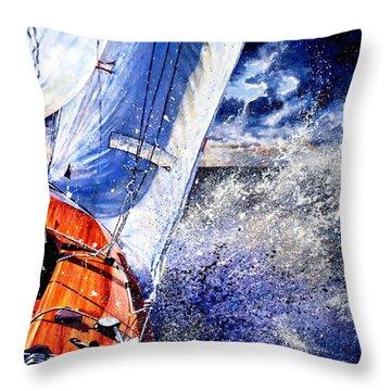 Sailing Souls Throw Pillow
