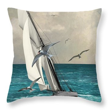 Sailing Southern Seas Throw Pillow