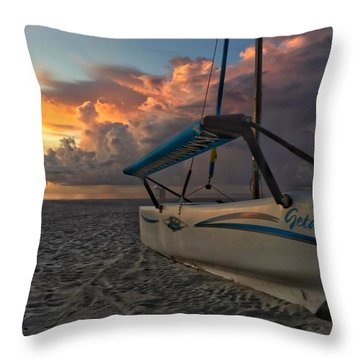 Sailing Still Throw Pillow