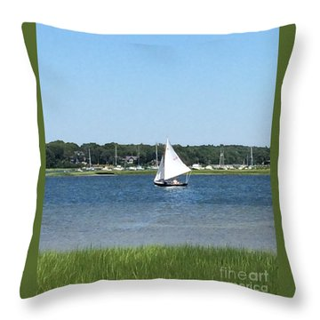 Sailing The Cape Throw Pillow