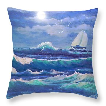 Sailing The Caribbean Throw Pillow