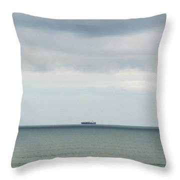 Throw Pillow featuring the photograph Sailing The Horizon by Linda Lees