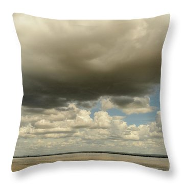 Sailing The Irrawaddy Throw Pillow