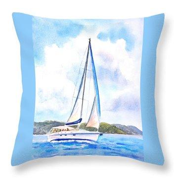 Sailing The Islands 2 Throw Pillow