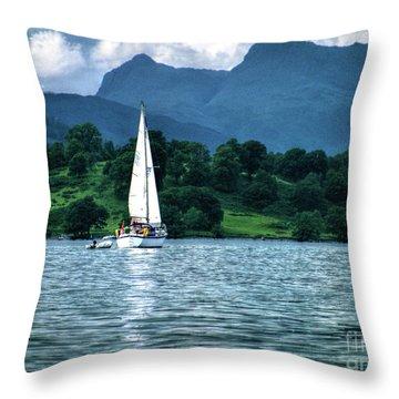 Sailing The Lakes Throw Pillow