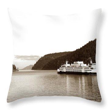 Throw Pillow featuring the photograph Sailing The San Juan Islands by Lorraine Devon Wilke