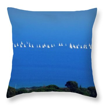 Sailing The Sea And Sky Throw Pillow