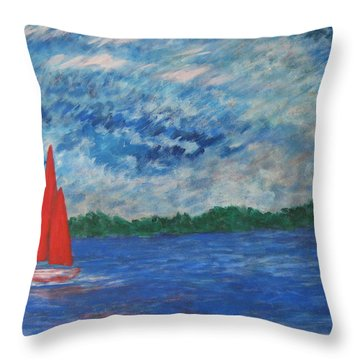 Sailing The Wind Throw Pillow