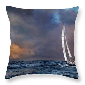 Sailing The Wine Dark Sea Throw Pillow