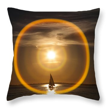 Sailing Through The Iris Throw Pillow