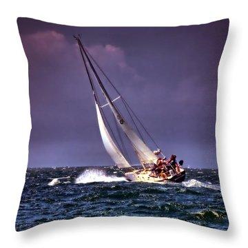 Sailing To Nantucket 001 Throw Pillow