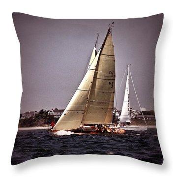 Sailing To Nantucket 005 Throw Pillow