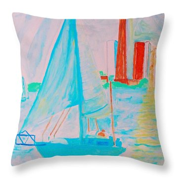 Sailing Toronto, Canada Throw Pillow