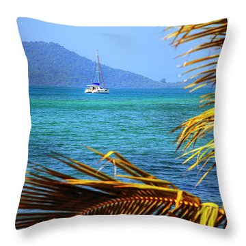 Throw Pillow featuring the photograph Sailing Vacation by Alexey Stiop