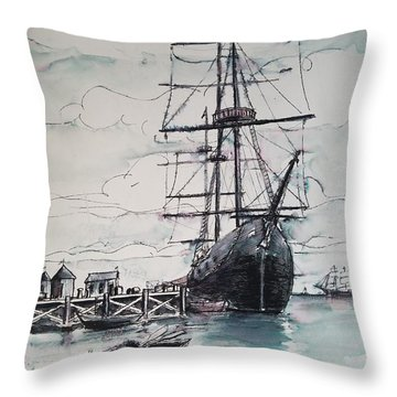 Sailing Vessel Pandora Throw Pillow