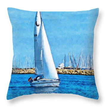 Sailling Ship Throw Pillow