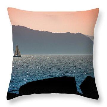Sailng Throw Pillow