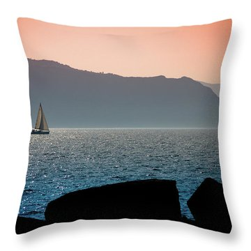 Sailng Throw Pillow