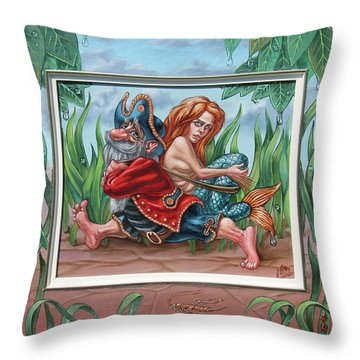 Sailor And Mermaid Throw Pillow