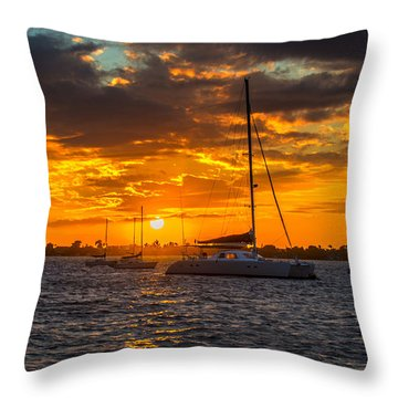 Sailor Sunset Throw Pillow