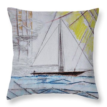Sailors Delight Throw Pillow by J R Seymour