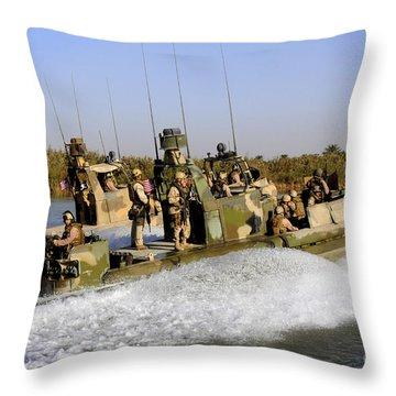 Sailors Racing Along The Euphrates Throw Pillow by Stocktrek Images
