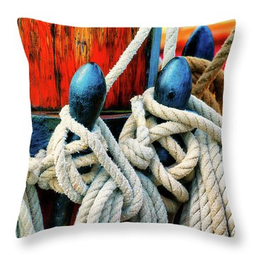 Sailor's Ropes Throw Pillow