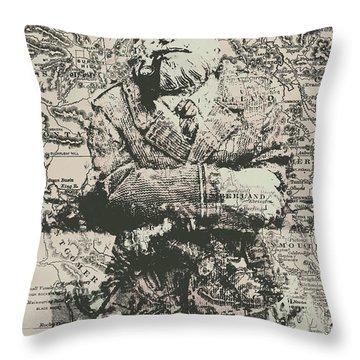 Sailors Vintage Adventure Throw Pillow