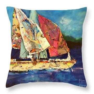 Sails Away Throw Pillow