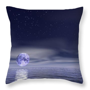 Sails Beneath The Moon Throw Pillow