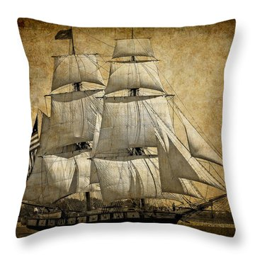 Sails Full And By Throw Pillow