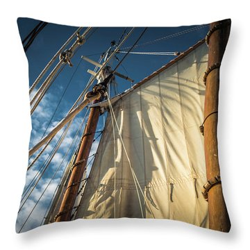 Sails In The Breeze Throw Pillow
