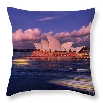 Throw Pillow featuring the photograph Sails In The Clouds By Kaye Menner by Kaye Menner
