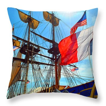 Sails Of France Throw Pillow