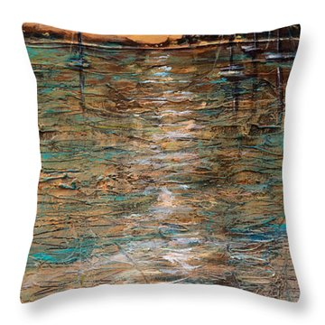 Sails Stowed Throw Pillow