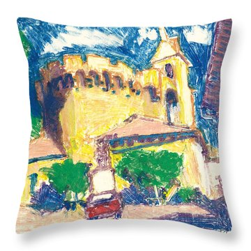 Throw Pillow featuring the painting Saint Andiol Provence by Martin Stankewitz